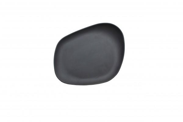 Yayoi Teller klein, matt schwarz (Flat black)
