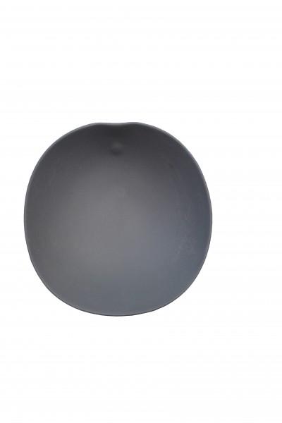 Shell Line, Porzellan-Schale schwarz matt