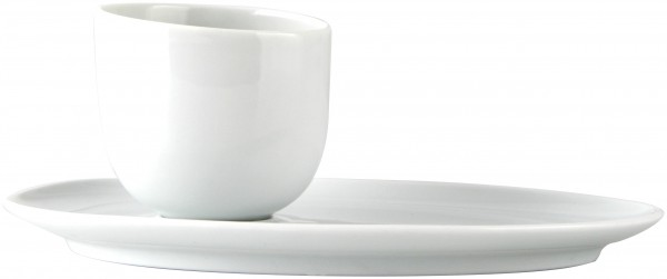 Espressotasse mit Unterteller modern art