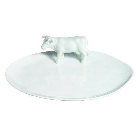 Platte mit Kuh, Käseteller