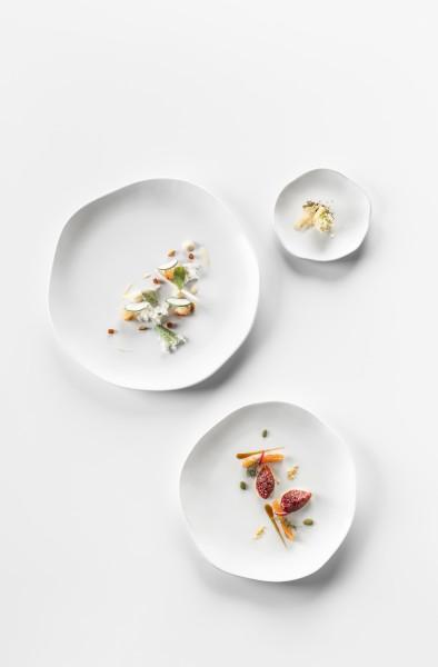 Dessertteller CARA, Rand leicht gewellt, 20 cm