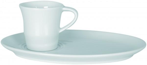 Espressotasse Chavena mit ovalem Unterteller