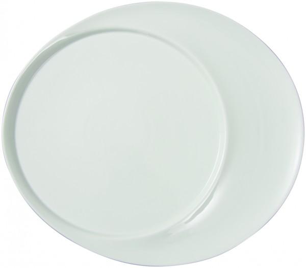 Tortenplatte oval mit rundem Einschluss
