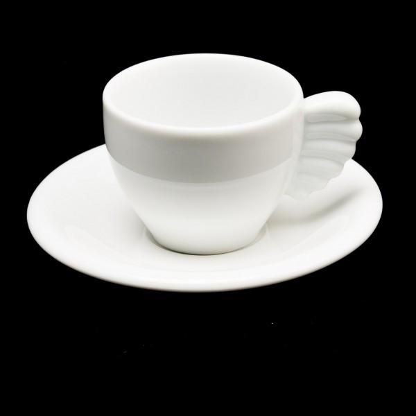 Espressotasse mit Flügelhenkel, Unterteller