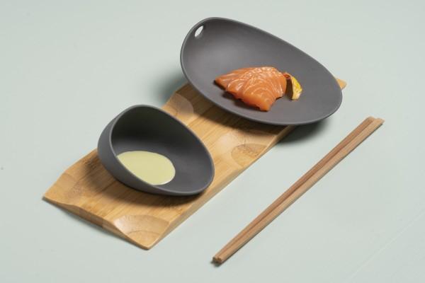 Sushi Set,, 3 teillig schwarz matt